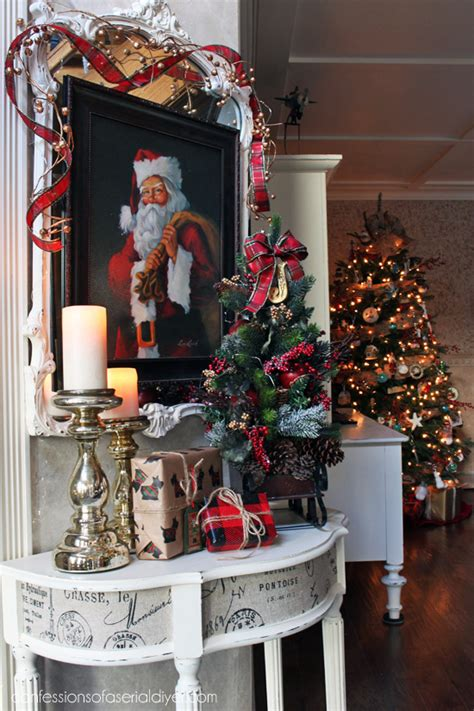 christmas entry table  decor challenge confessions