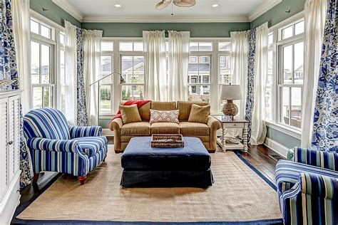 sunroom decor decor in blue and white is for the style