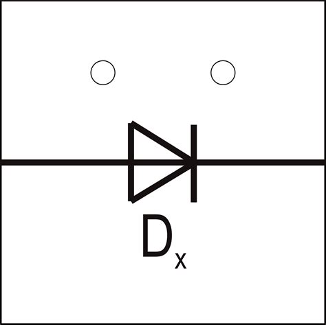 diode symbol in circuit electronic symbol for diode clipart best