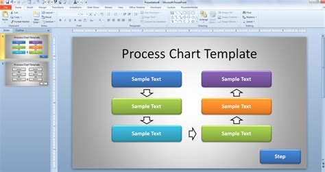 Free Simple Process Chart Template For Powerpoint Presentations Powerpoint Template Process Flow