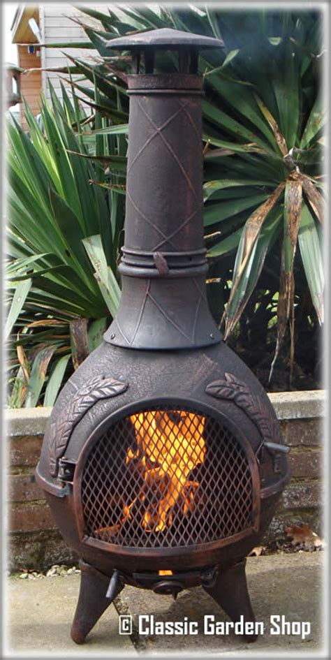 Cool Chiminea by Castmaster Aztec Calico Cast Iron Barbecue Chiminea