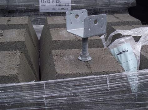 pier wadjustable bracket pier blocks building