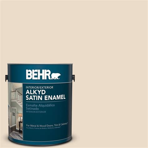 behr marquee 1 gal n260 1 vanilla mocha satin enamel exterior paint 945001 the home depot