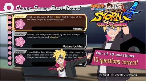 Boruto Quiz Answers   naruto ninja storm 4 road to boruto all correct test