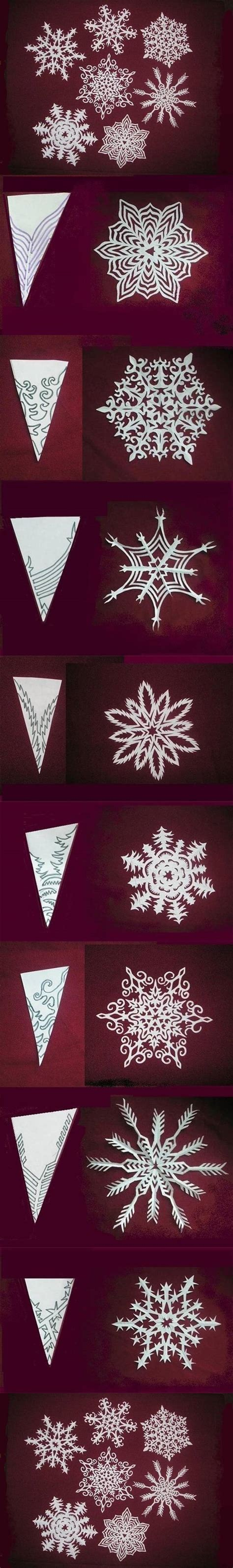 How To Make Snowflake Decorations Out Of Paper - wonderful diy paper snowflakes with pattern
