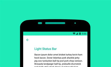 android status bar diving into m android m will let devs use icons on a light status bar