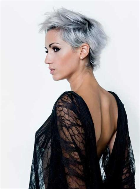 funky hairstyle for silver hair 15 cool funky short hair styles short hairstyles 2016