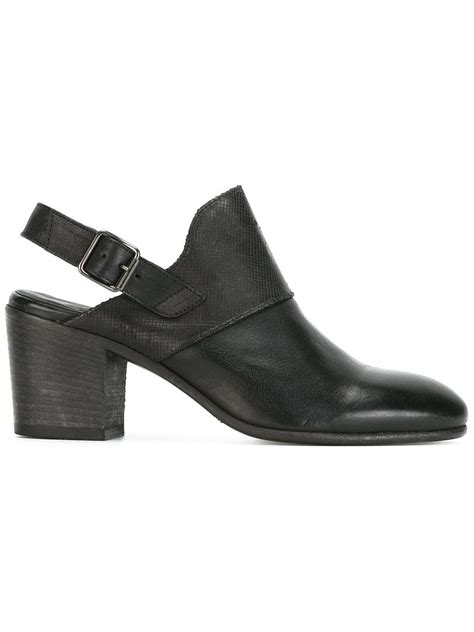 Buckled Mules pantanetti buckled mules in black lyst
