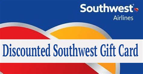 Southwest Gift Card Promotion - southwest airline deal discounted gift card coupons 4 utah