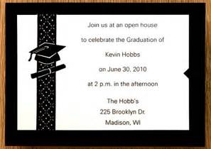 graduation invite templates sle graduation invitation templates sle