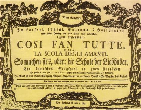 cosi fan tutte synopsis local opera troupe brings mozart s cos 236 fan tutte to