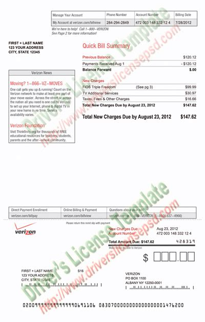 28 free utility bill template reading a utility