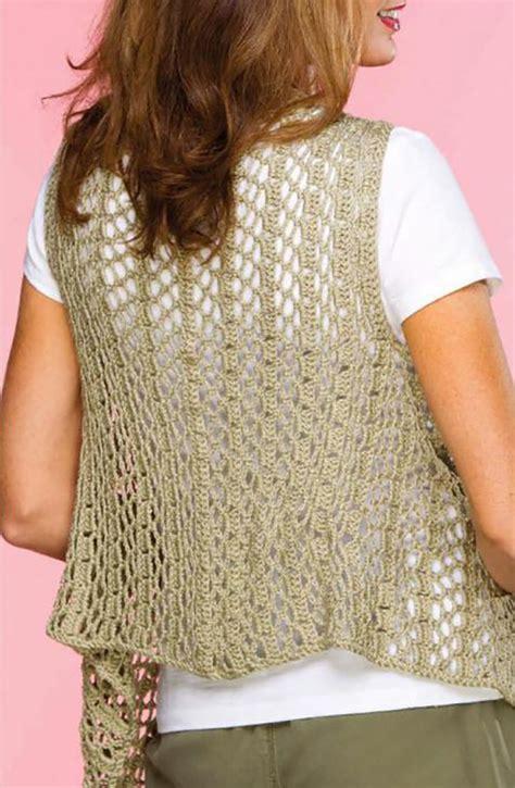 pattern crochet vest womens draped crochet vest pattern