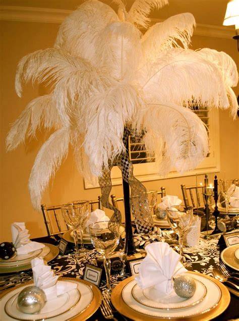 gatsby prom ideas great gatsby prom decorations since the feathers were so