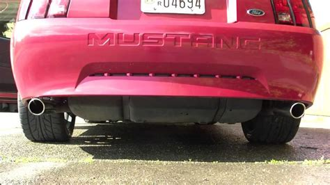 2000 ford mustang exhaust 2000 mustang v6 true dual exhaust with x pipe and