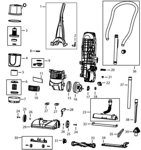 Bissell 6582 6583 Powerforce Bagless Upright Vacuum Parts
