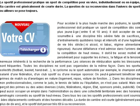 Lettre Motivation Ecole De Foot Mod 232 Le Et Exemple De Lettre De Motivation Sportif Professionnel