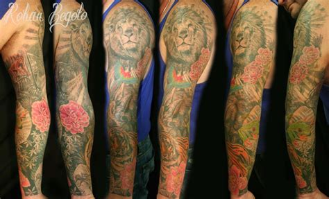 tattoo ideas jungle rohan begolo jungle sleeve by rohanrb on deviantart