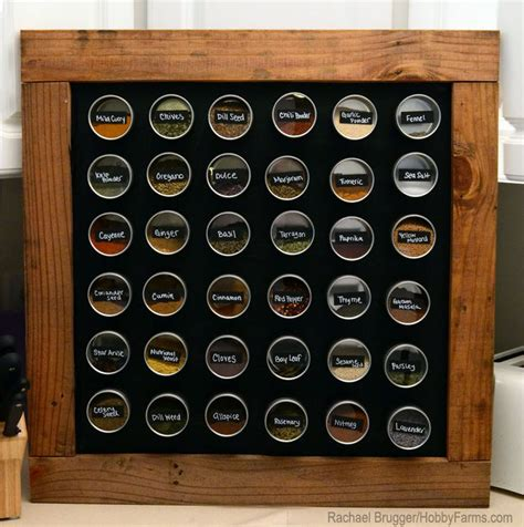 diy magnetic chalkboard spice rack to forever ditch the spice cupboard of horror and tidy up