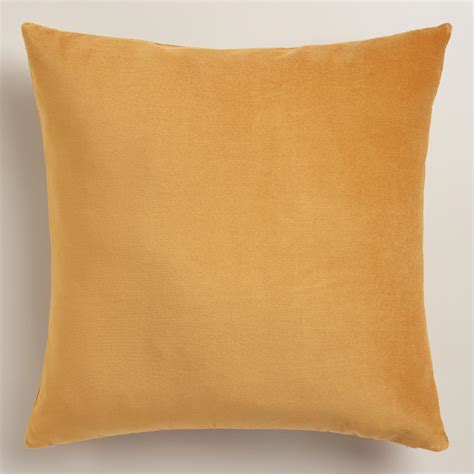 Velvet Throw Pillows Gold Velvet Throw Pillow World Market