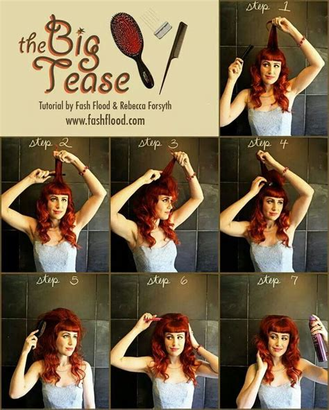 how to properly tease your hair makeupcom tease it up rockabilly pin up hair and makeup pinterest