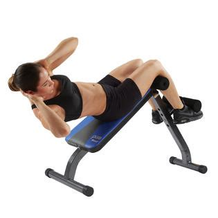 pure fitness ab crunch  sit  bench fitness sports