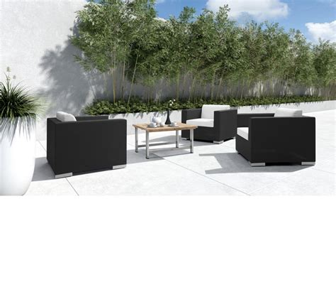 patio lounge set dreamfurniture h69 modern patio lounge set