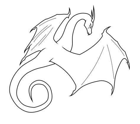 dragon outline by midnightpurpledragon on deviantart