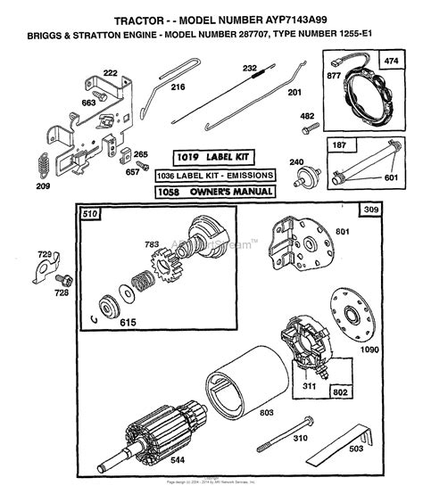 briggs and stratton engine parts diagram ayp electrolux 7143a99 1999 parts diagram for briggs and