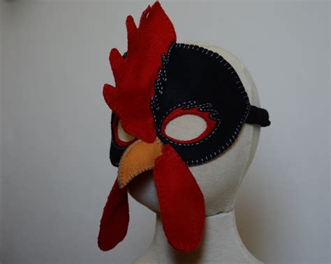 printable rooster mask hen and rooster mask pdf pattern