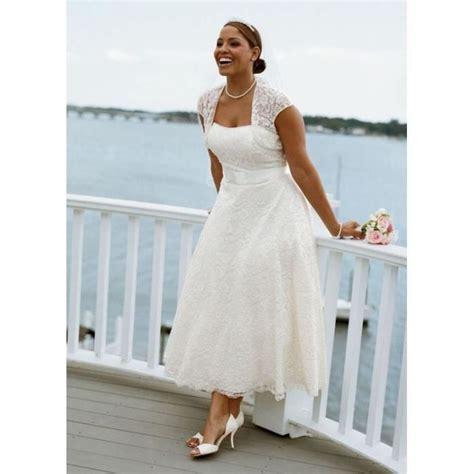 Robe Boheme Blanche Grande Taille - grande taille robe de mariage blanche mi longue col bateau