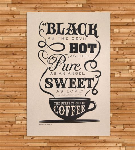 Coffee Print the cup of coffee letterpress print