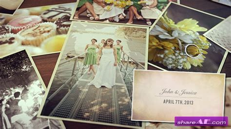 after effect wedding template wedding photos slideshow after effects project