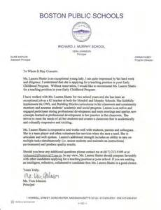 School Superintendent Cover Letter by Sle Reference Letter For School Superintendent Cover