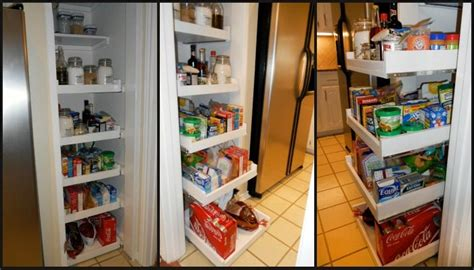 How To Build A Food Pantry by How To Build Pull Out Pantry Shelves Diy Projects For
