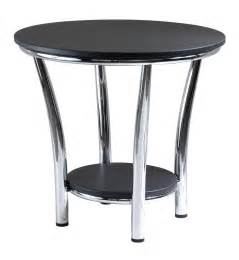 winsome end table black top metal legs by oj