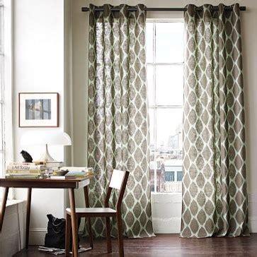 west elm ikat curtains ikat ogee linen window panel west elm mediterranean