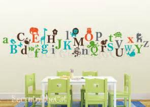 Wall Decal Letters For Nursery Items Similar To Alphabet Vinyl Decal Abc Decal A To Z Letters Nursery Decal Wall
