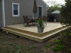 questions about framing a ground level deck decks