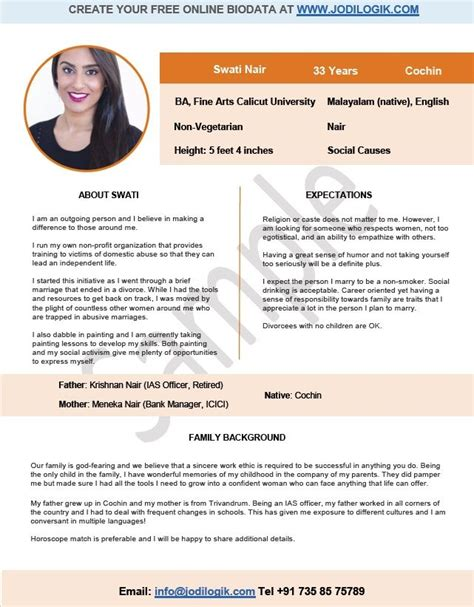 biodata format in hindi download indian marriage biodata format for a girl 1 pinterest