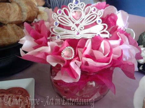 Art In Entertaining By Cindy Rippe 3rd Birthday Princess Princess Centerpiece Ideas