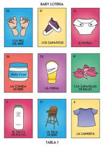 baby shower loteria imagui