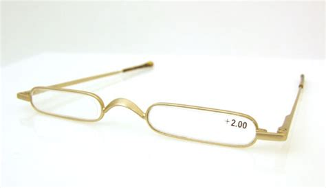 gold frame metal small reading glasses 2 00 new