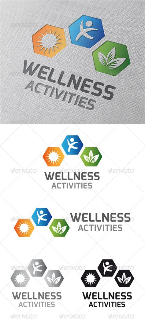 wellness template wellness activities logo template graphicriver