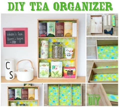 Tea Organization 15 diy ideas for organizing your whole life part 1