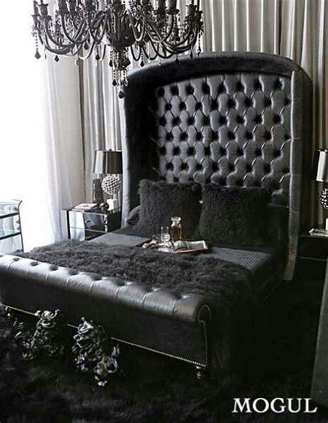all black bedroom omg we re in love all black everything black tufted