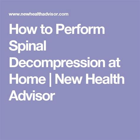1000 ideas about spinal decompression on