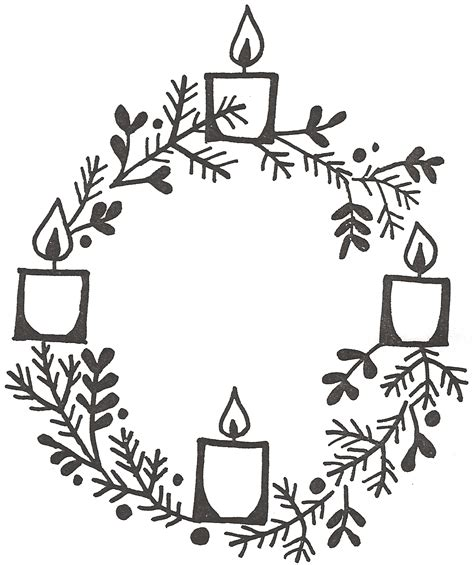 german advent wreath coloring page clipart advent wreath three candles lit clipground