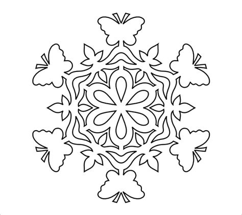 snowflake outline template snowflake templates 49 free word pdf jpeg png format