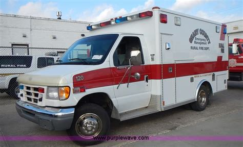 1997 ford e350 ambulance for auction municibid 1997 ford econoline e350 ambulance no reserve auction on tuesday december 08 2015